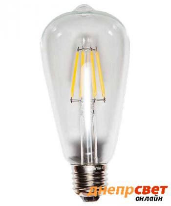 Лампа светодиодная Levistella LED ST64 E27 4W 2700K FILAMENT CLEAN