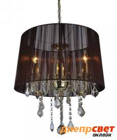 Золота люстра з коричневим абажуром Levistella 7204003GD-3GD BROWN
